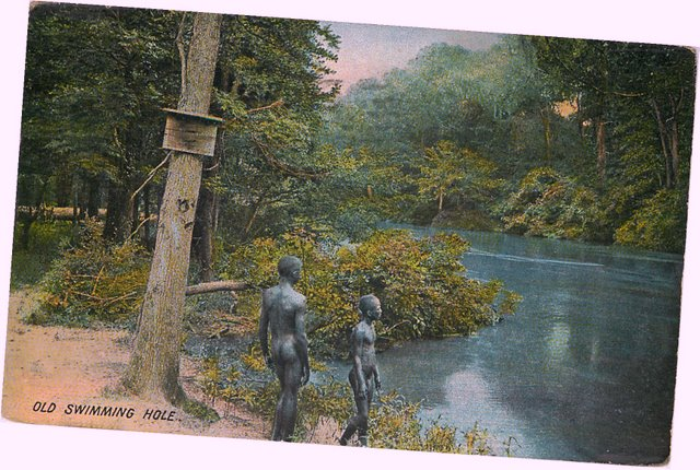Old Swimming Hole - with two black people No. 157