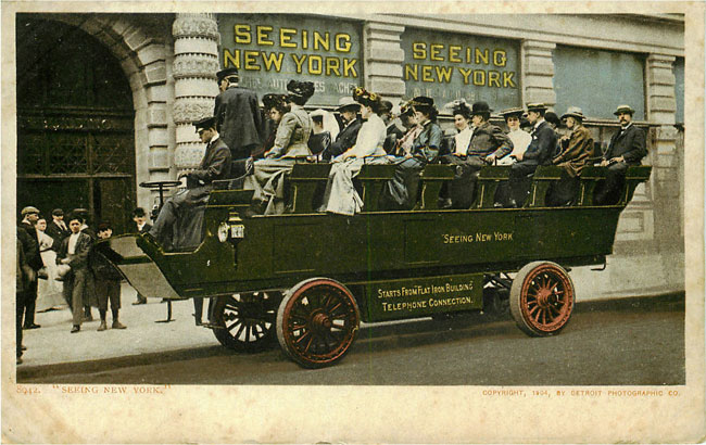 Old Site Seeing Car New York 1904