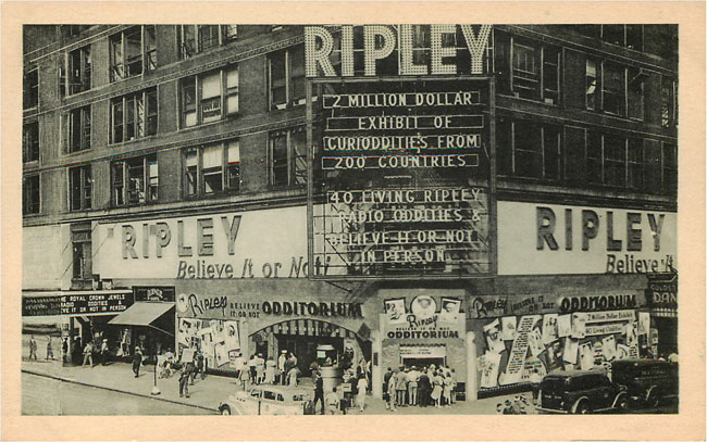 Ripley 48th & Broadway New York 1939