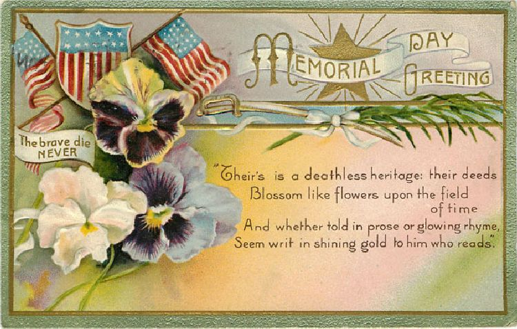 Memorial Day Greeting 1909