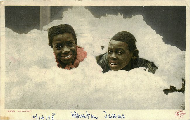 Two Black Kids in Cotton