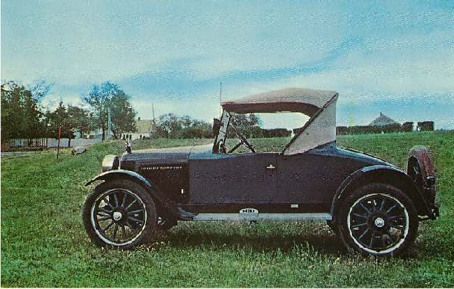 RARE Hupmobile Bob-Tail Roadster Classic Car Postcard