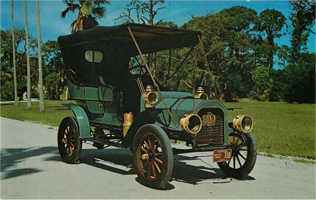 1907 REO Touring Classic Car Postcard