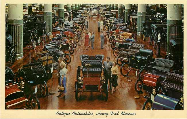 Henry Ford Museum Classic Car Postcard