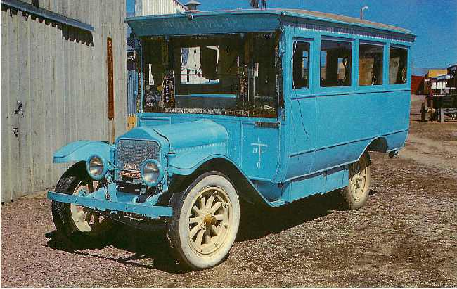 1921 White Motor Home Classic Car Postcard
