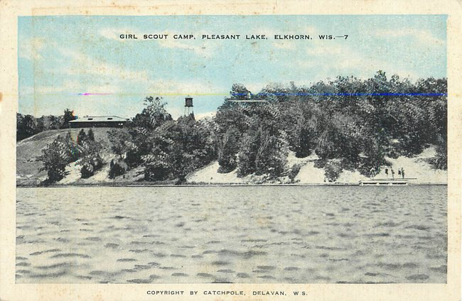 Glirl Scout Camp, Pleasant Lake, Elkhorn, Wis. --7