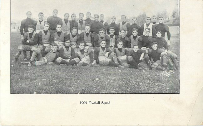 Football Postcard - 1905 Football Squad