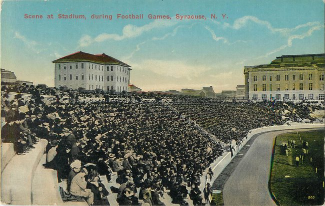 Scene at Stadum, during Football Games, Syracuse, NY