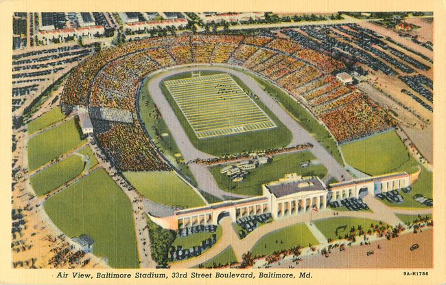 Air View, Baltimore Stadium, 33rd St Boulevard, MD (copy 1)