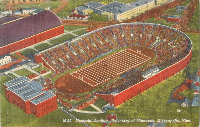 Memorial Stadium, University of Minnesota, Minneapolis, Minn