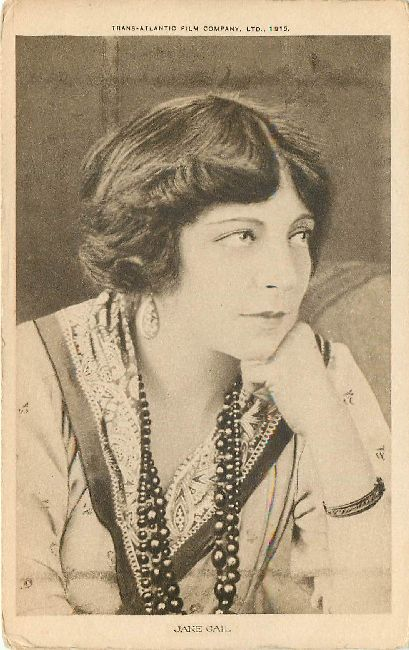 Jane Gail Edwardian Actress Postcard