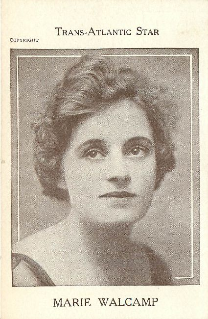 Trans-Atlantic Star Edwardian Actress Marie Walcamp Postcard