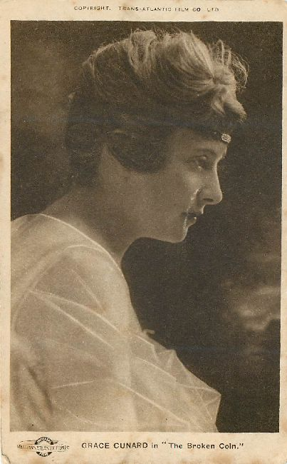 Edwardian Actress Grace Cunard Sillouette Postcard