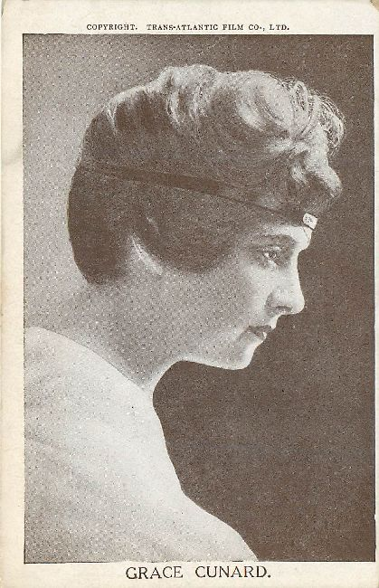 "Grace Cunard in ""The Broken Coln."" Edwardian Actress Postcard"