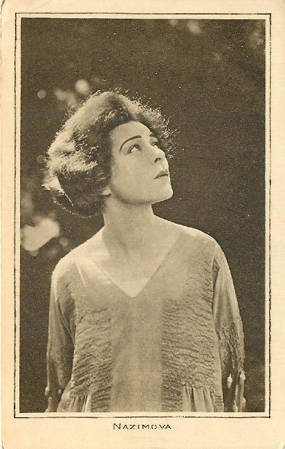 A Pictures Ltd. Postcard Showing Edwardian Actress Nazimova