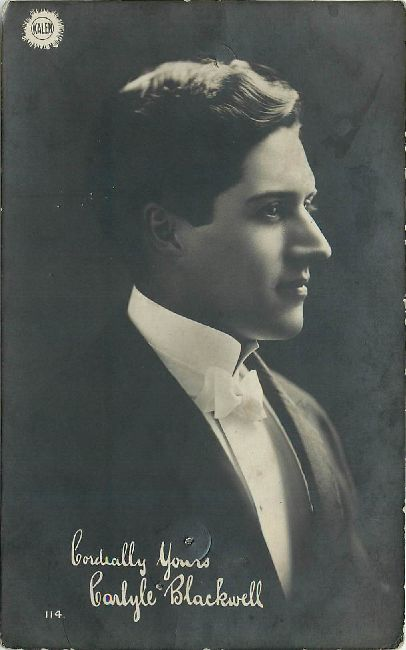 Carlyle Blackwell Edwardian Actor Postcard