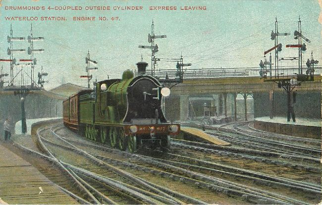 Drummond's 4-Coupled Outside Cylinder Express Postcard