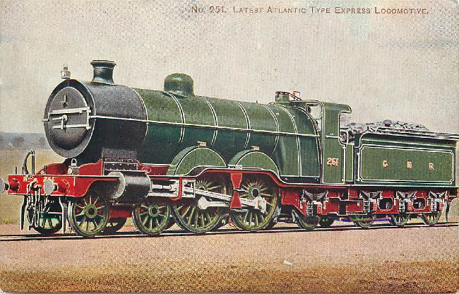 No. 251 Latest Atlantic Type Express Locomotive Postcard