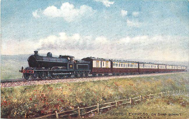 Scotch Express on Shap Summit Locomotive Postcard