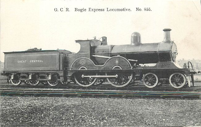 G.C.R. Bogie Express Locomotive, No. 855 Postcard