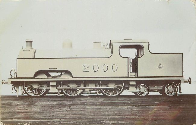 Locomotive Postcard Engine 2000