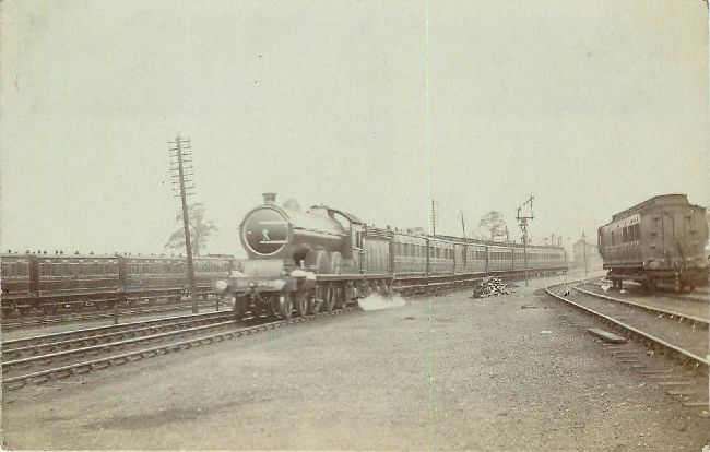 Vintage Locomotive Train Postcard
