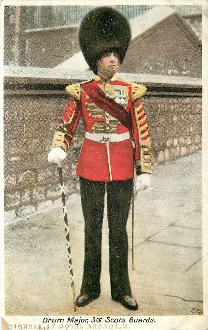 Drum Major 3rd Scots Guards Great Britain Postcard
