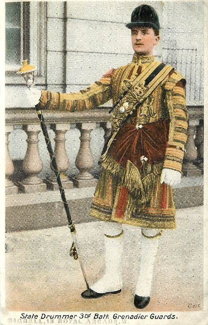State Drummer 3rd Batt.Grenadier Guards Postcard