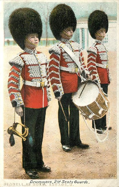 Drummers 2nd Scots Guards Great Britain Postcard