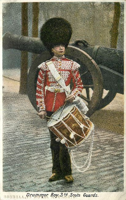 Drummer Boy 3rd Scots Guards Great Britain Postcard