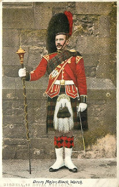 Drum Major, Black Watch Great Britain Postcard