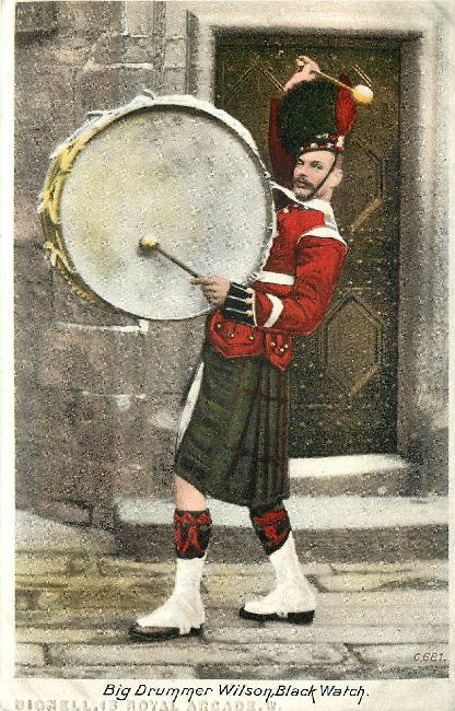 Big Drummer Wilson Black Watch Great Britain Postcard
