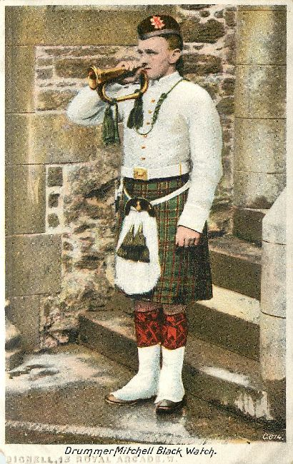 Drummer Mitchell Black Watch Great Britain Postcard