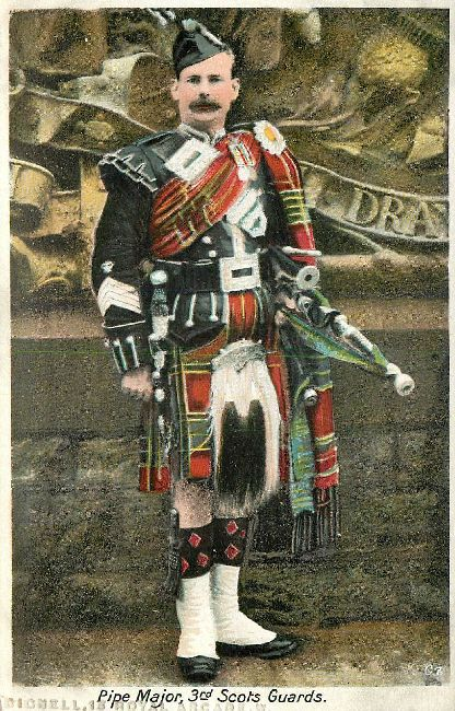 Pipe Major 3rd Scots Guards Great Britain Postcard