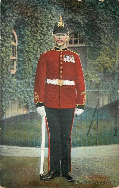 Sapper Royal Engineer Great Britain Postcard