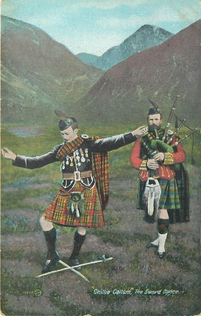 Ghillie Callum The Sword Dance J.V. No. 03895 Postcard