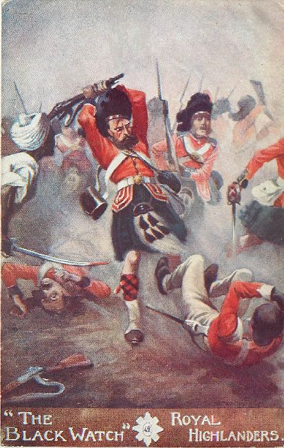 """The Black Watch"" Royal Highlanders Gale & Polden Ltd. Postcard"