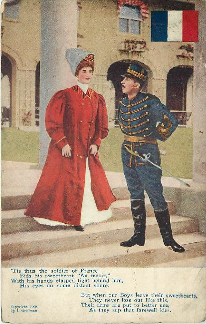 Guard Postcard Copywright 1908 by J. Grollman Posmarked 1912