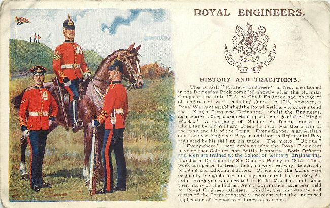 Royal Engineers Great Britain Gale & Podlen Ltd., Postcard