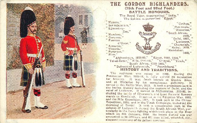 Battle Honours Great Britain Guards Gale & Polden Ltd., Postcard