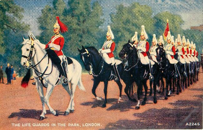 The Life Guards in the Park, London