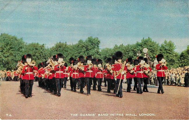 The Guards' Band in the Mall, London