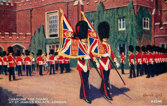 Changing the Guard at St. James's Palace, London