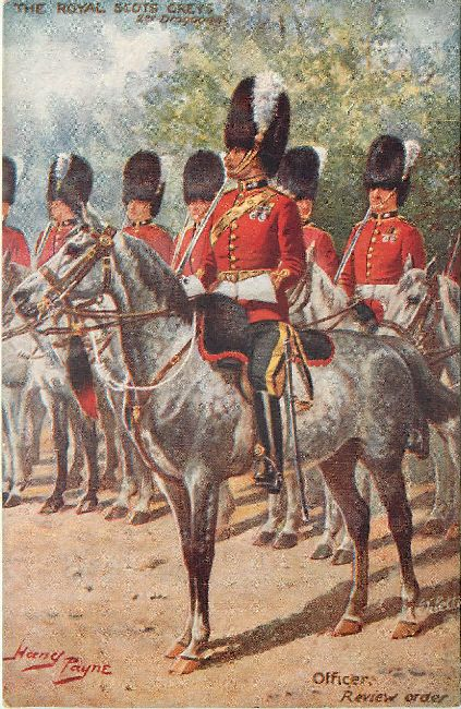 The Royal Scots Greys signed by Harry Payne