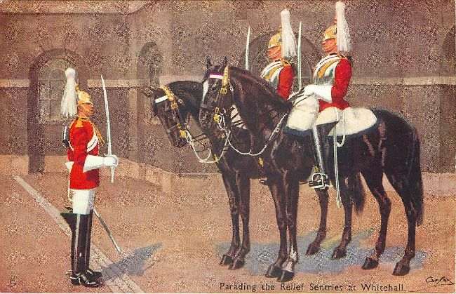 Changing of the Guard at Whitehall - Signed by Carfax