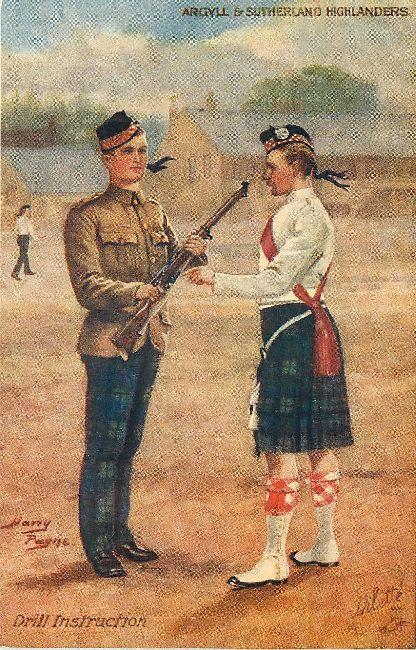 Argyll & Sutherland Highlanders - Signed by Harry Payne