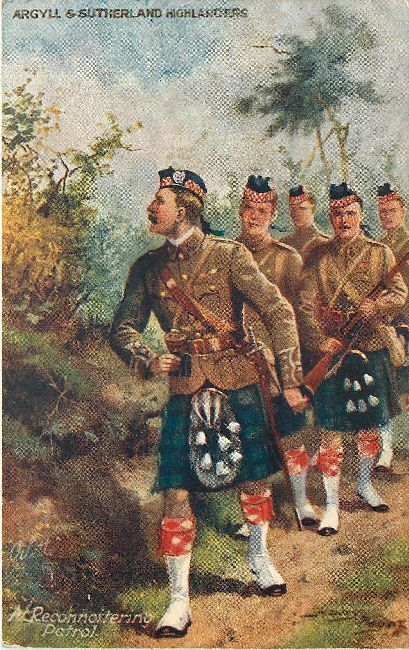 Argyll and Sutherland Highlanders - Signed by Harry Payne