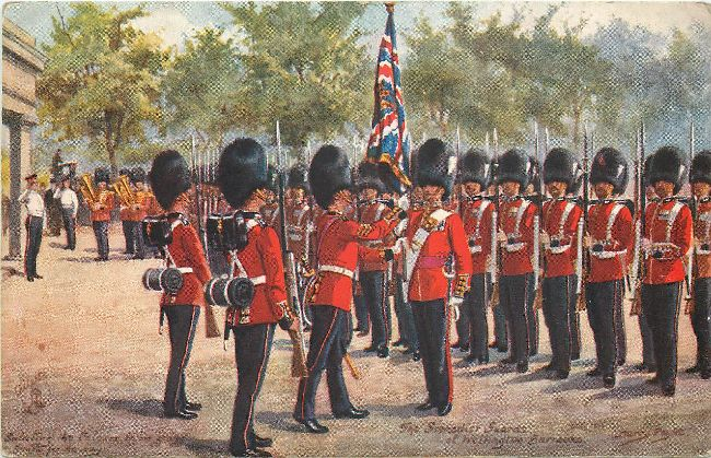 The Grenadier Guards at Wellington Barracks-Signed Harry Payne