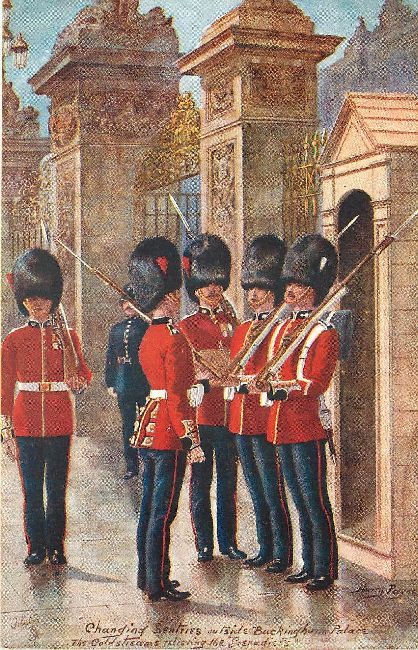 The Coldstreams relieving the Grenadier's-Signed by Harry Payne