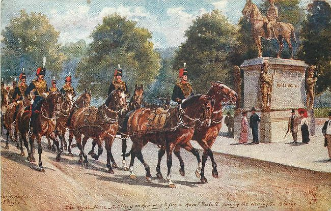 The Royal Horse Artillery - Signed by Harry Payne